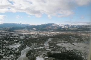 Aerial view of Missoula, Montana