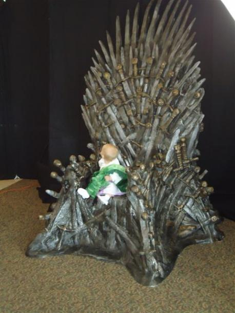 Reganlief Checking Out the Throne