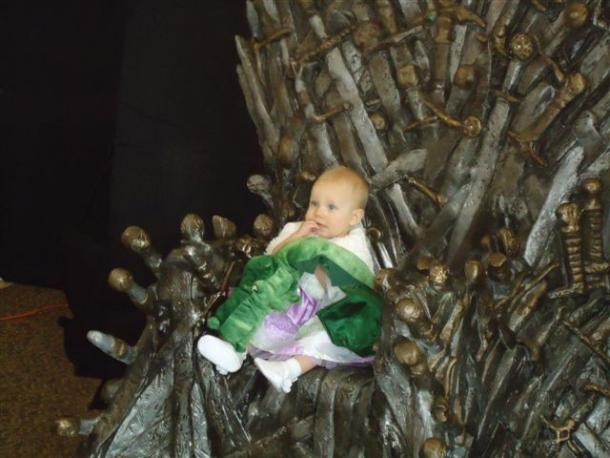 Baby on the Throne