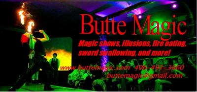 Ladies and gentlemen, this is the chance of a lifetime! Watch, as Eric the Excellent and Sir James of Butte Magic take the stage, to amaze, puzzle, and awe!